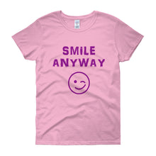 "Load image into Gallery viewer, ""Smile Anyway"" Lady Purple"
