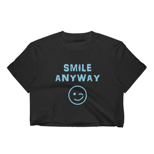 """Smile Anyway"" Crop Sky Blue"