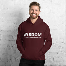 Load image into Gallery viewer, WISDOM Hoodie White Letter