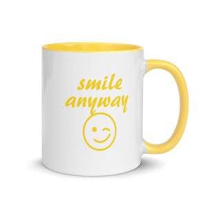 Smile Anyway Yellow Mug