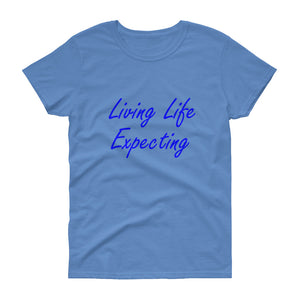 """Expecting"" Blue Letter"