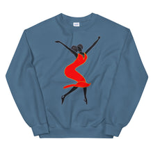 "Load image into Gallery viewer, ""BLISS"" Red Sweatshirt"