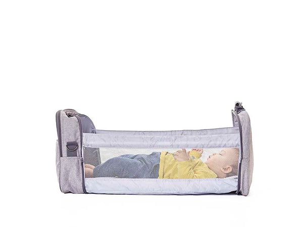 Travel Cot and Nursery Bag all-in-one (DENIM BLUE)