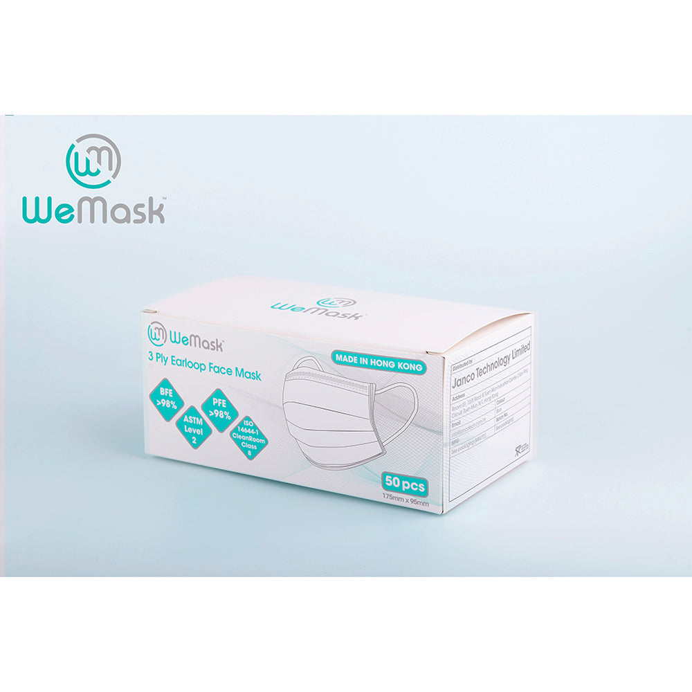 WeMask - 3 ply Earloop Face Mask (Adults)