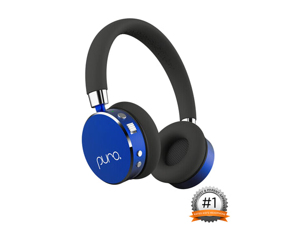 PURO - Blue BT2200 Studio Grade Children's Bluetooth Headphones