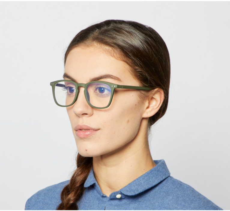 #E SCREEN Anti Blue Light Glasses > Teens and Adults > Kaki Green
