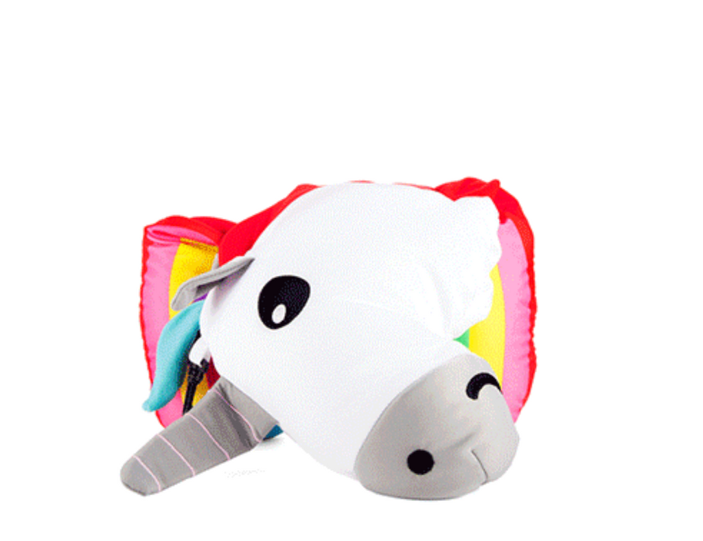 Zip and Flip Unicorn Neck Pillow