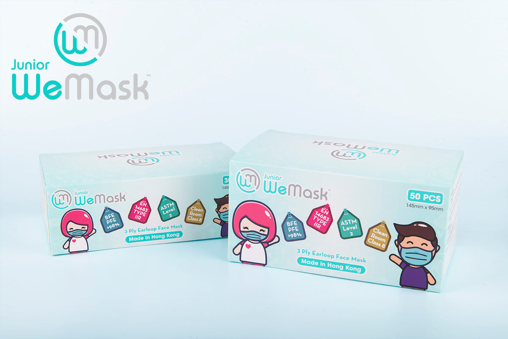 Junior WeMask 30s and 50s - 3 ply Earloop Face Mask