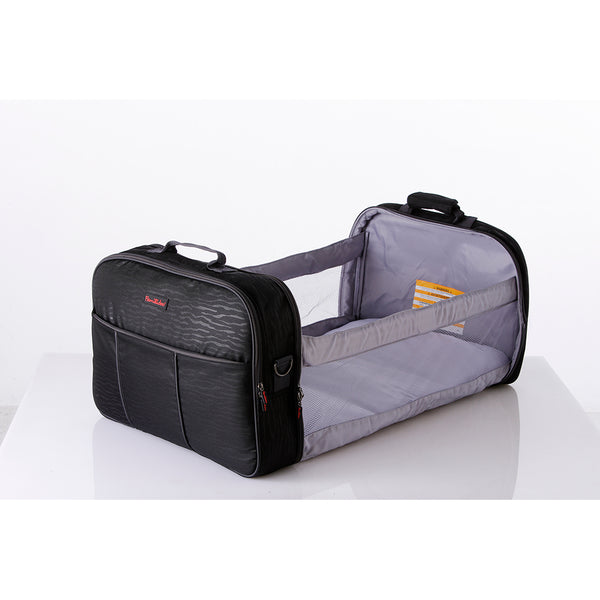 Travel Cot and Nursery Bag all-in-one (BLACK ZEBRA)