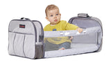 Travel Cot and Nursery Bag all-in-one (LIGHT GREY)