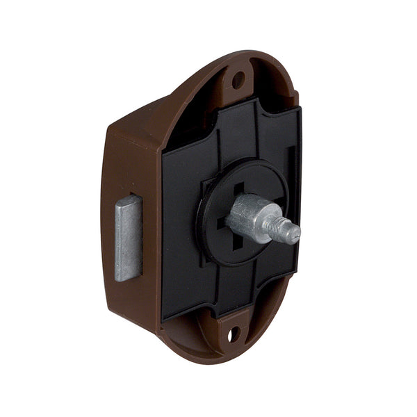 Push Button Lock Brown