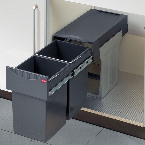 Hailo TANDEM 30 Pull-out kitchen waste and recycling bin, For hinged door cabinets