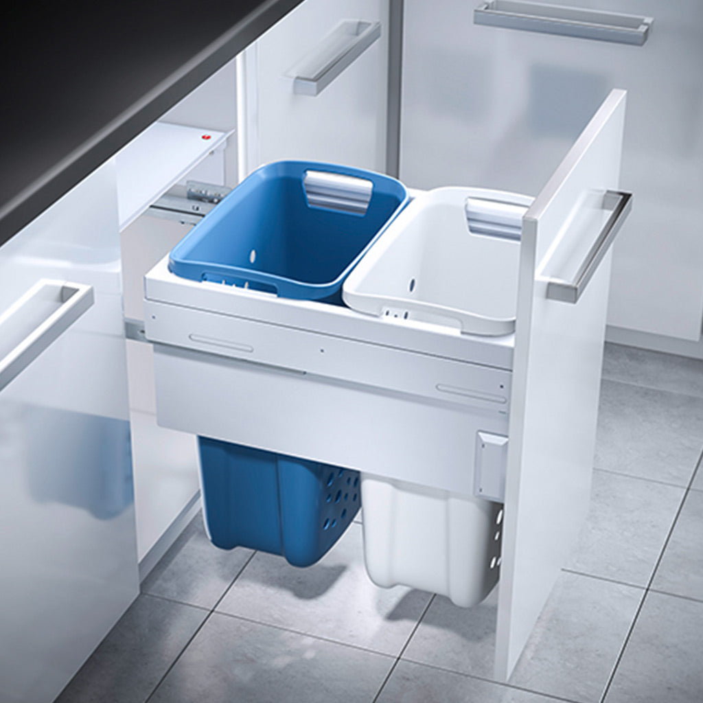 Hailo Laundry Carrier for 450mm cabinet including two laundry baskets