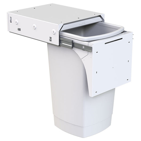 HIDEAWAY SOFT-CLOSE door pull, 50 litre capacity, hidden rubbish bin