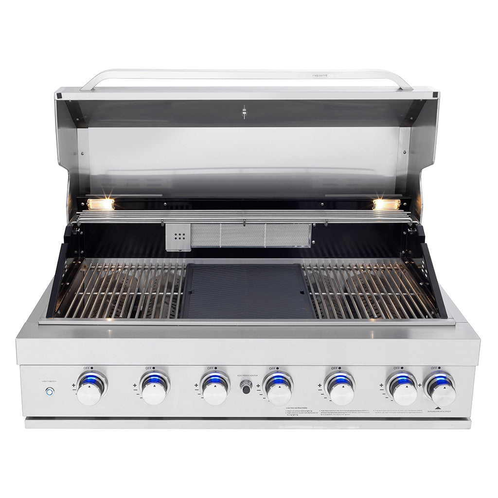 Picture of open 6 Burner BBQ