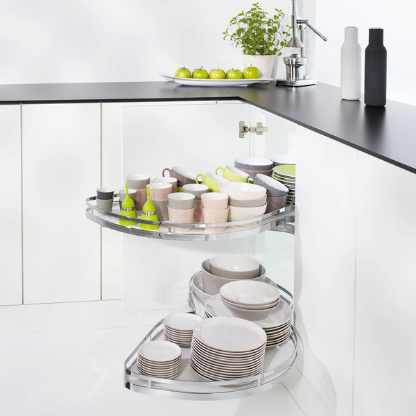 Le Mans II - Kitchen Corner Storage Solution with two trays