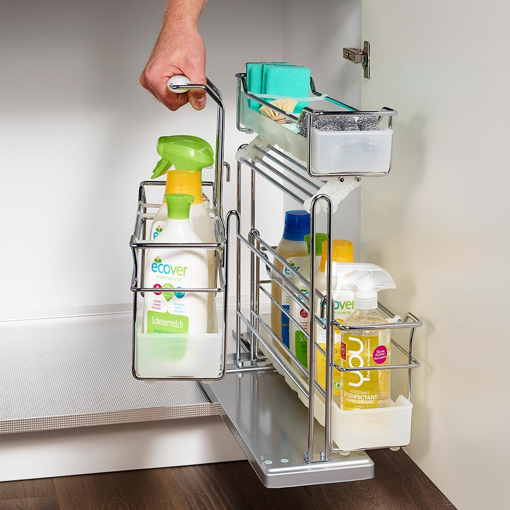 Under Sink Kitchen Storage Portero II Pull-Out Set by Kessebohmer