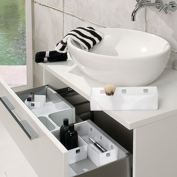 Ninka Banio Storage Trays in Bathroom Drawers