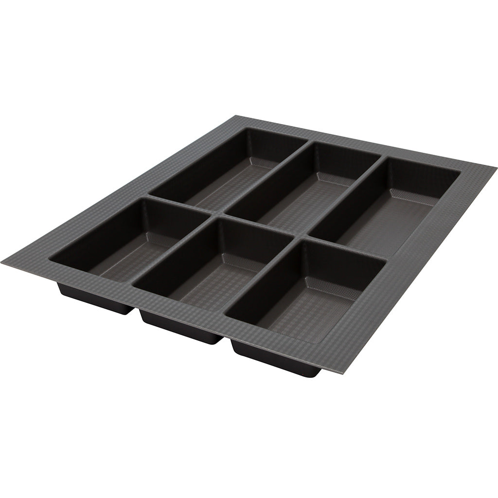 Classico 500 Non-Slip Cutlery Tray Drawer Insert in Basalt Grey