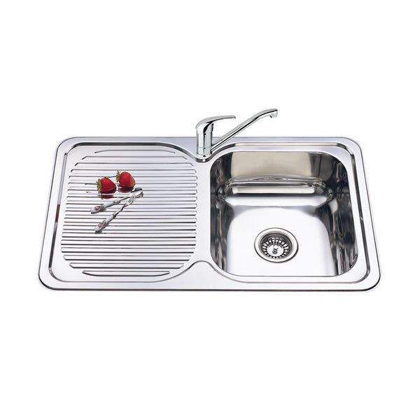 SINGLE BOWL SINK L/H DRAINER