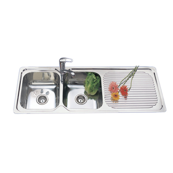 Double Bowl Sink R/H Drainer