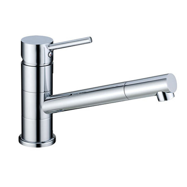 Polished chrome mixer tap