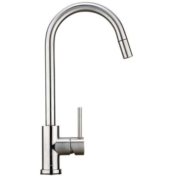 Mixer Tap With Pull-Out Vegi Spray Gooseneck