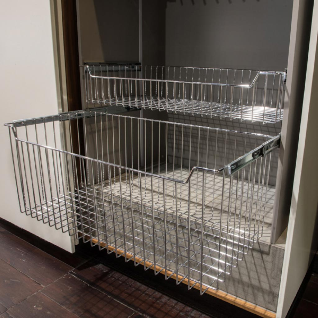 Installed Starax Pull-Out Wire Basket