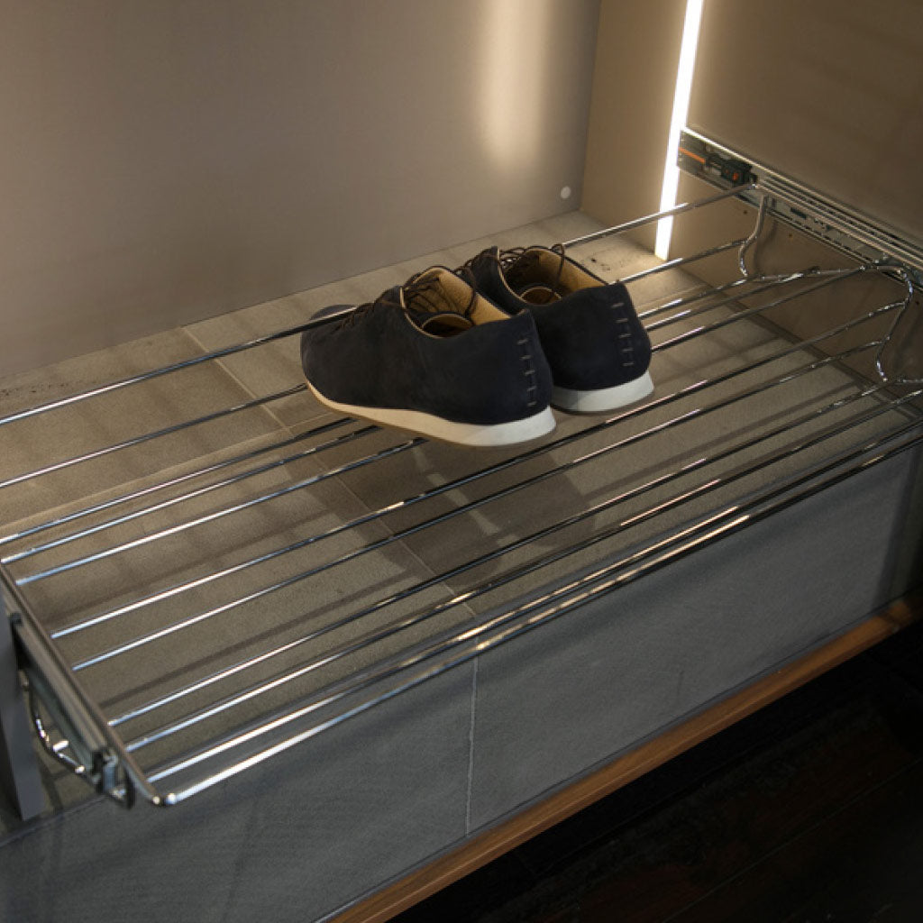 Installed Wardrobe Starax Pull-out Shoe Rack