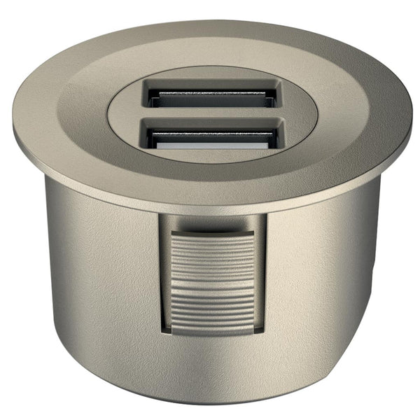 USB Charger Station Nickel plated