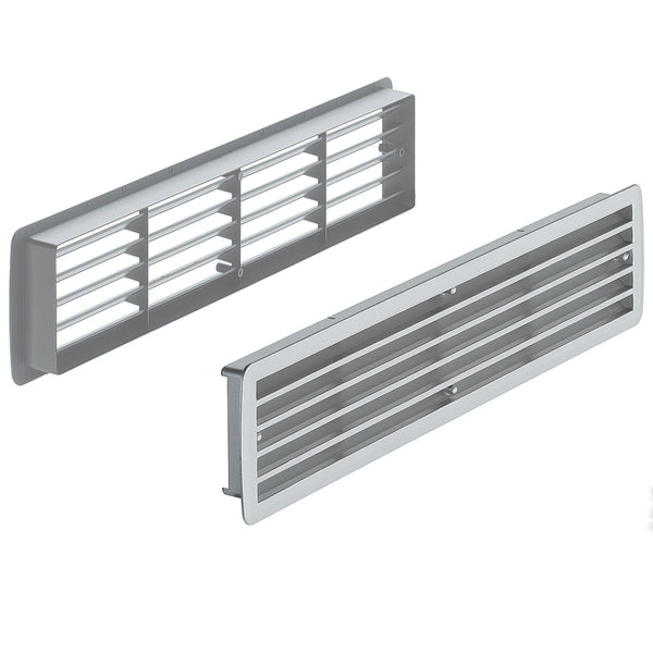 White Plastic Ventilation Grill - two pieces