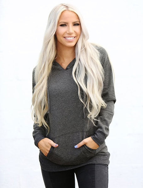 a tunic hoodie top