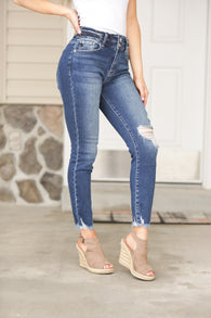 KanCan Double Button Distressed Jeans