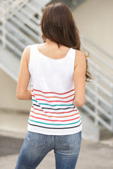 Striped V Neck Tank