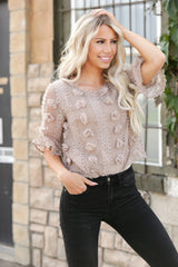 Floral Embellished Top