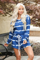 Long Sleeve Tie Dye and Short Set