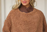 Teddy Fleece Mock Neck Sweatshirt