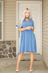 Short Sleeve Kelly Swing Dress