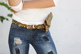 Fuzzy Leopard Belt Bag