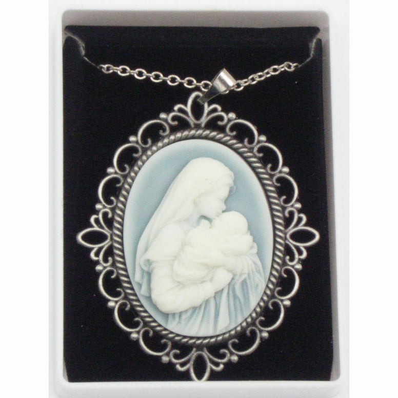 Mother's Kiss Cameo Necklace
