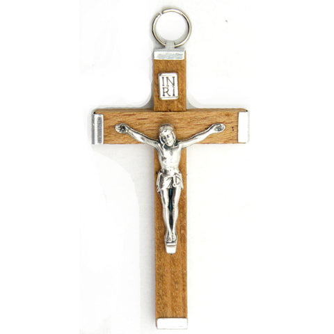 "2¼"" Brown Wood Crucifix"