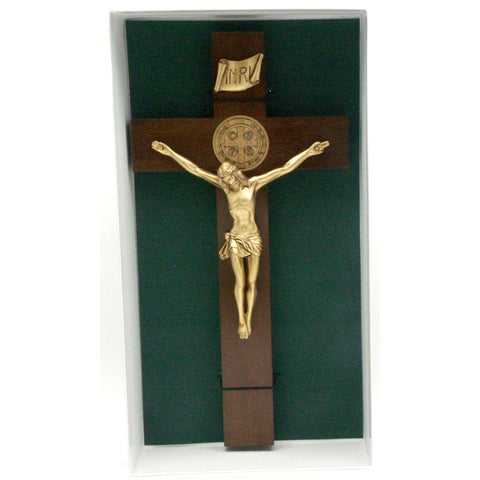 "12"" St. Benedict Crucifix: Gold"