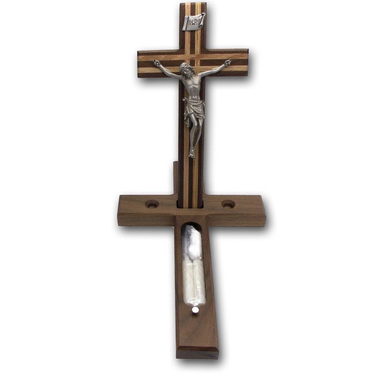 "13"" Walnut Sick Call Crucifix"