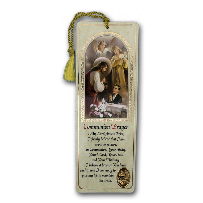 Boy's Communion Prayer Bookmark