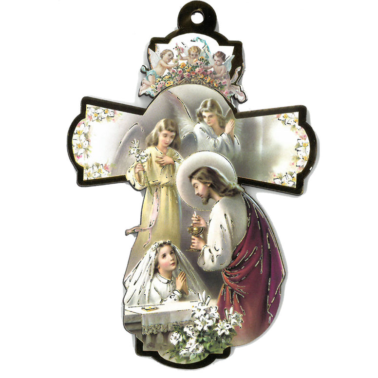 "6"" First Communion Cross - Girl"