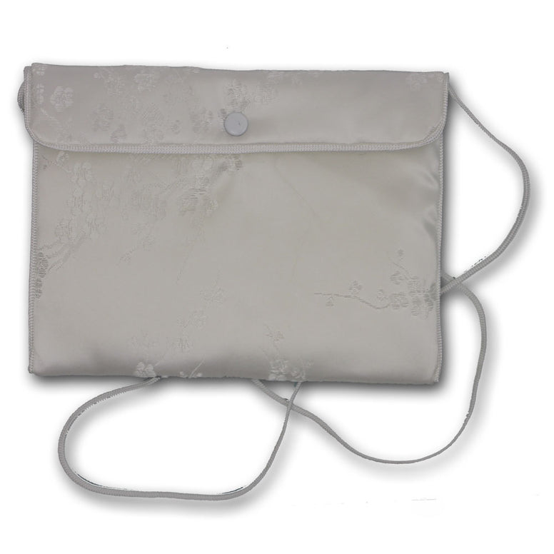 White Satin Purse
