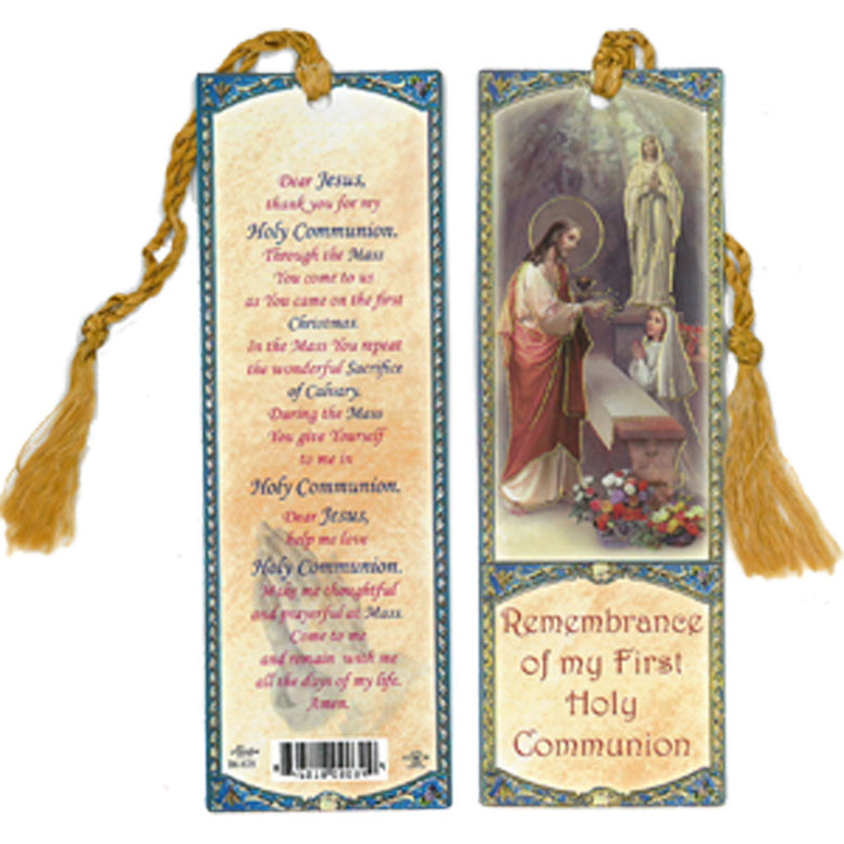 First Communion Bookmark: Girl