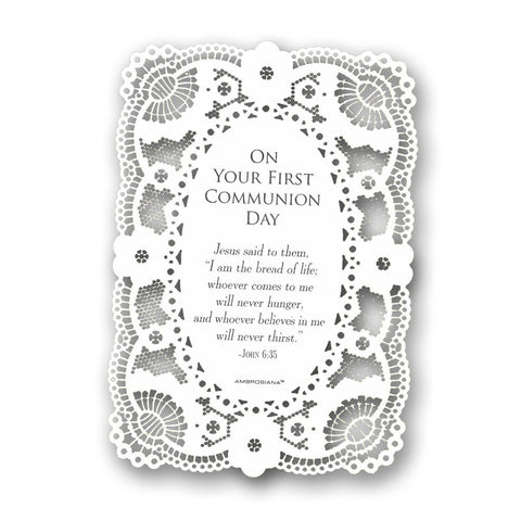 Deluxe Host & Chalice Holy Card