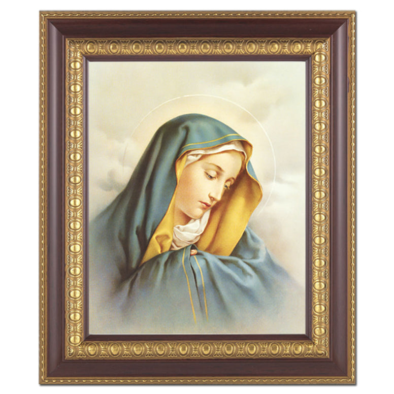 "Our Lady of Sorrows: 11"" x 13"" Cherry Frame"
