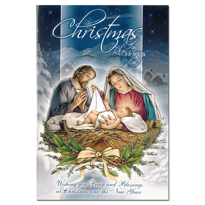 Christmas Blessings - single card